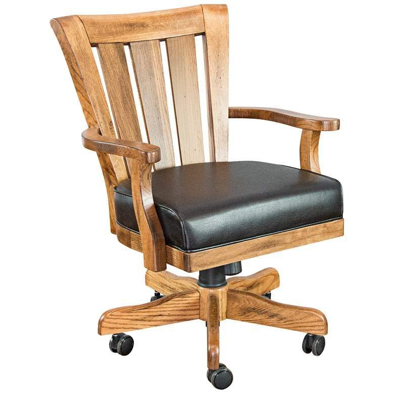 Sedona Rustic Oak Wood Adjustable Game Chair