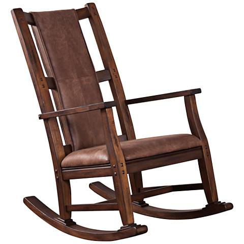 Savannah Antique Charcoal Wood Rocker Chair