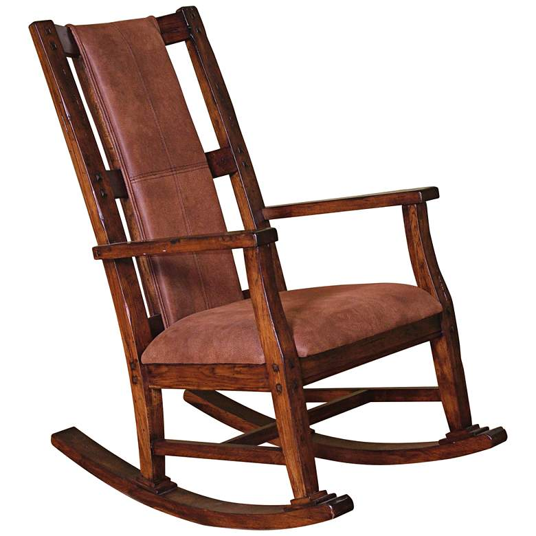 Santa Fe Dark Chocolate Wood Rocker Chair