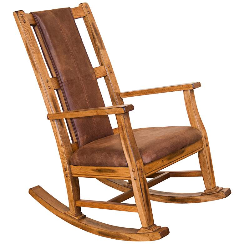 Fabulous Sedona Rustic Oak Wood Rocker Chair Beatyapartments Chair Design Images Beatyapartmentscom