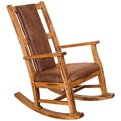 Sedona Rustic Oak Wood Rocker Chair