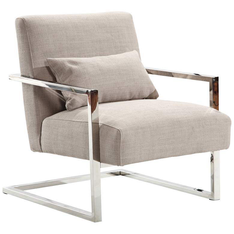 Skyline Gray Fabric Accent Chair