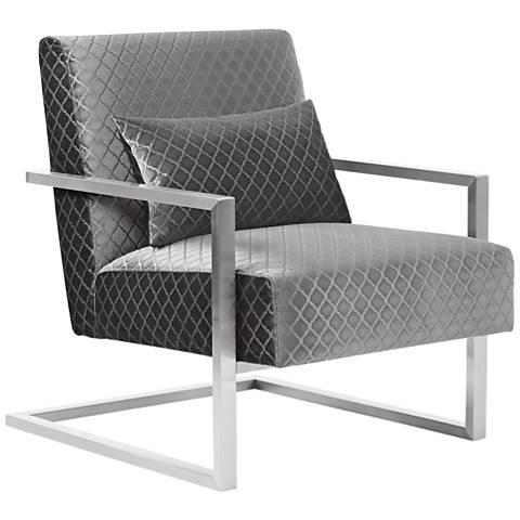 Skyline Gray Velvet Accent Chair