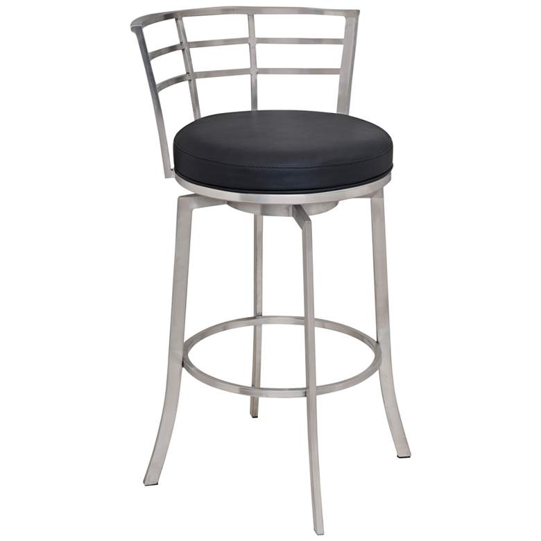 """Viper 26"""" Black Faux Leather Swivel Counter Stool"""