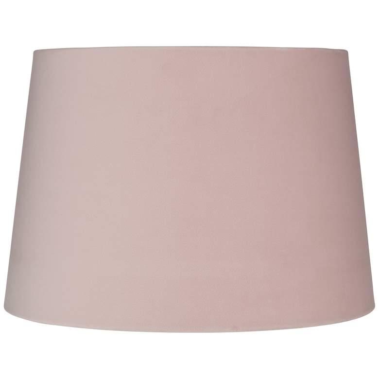 Pink Velvet Hardback Drum Lamp Shade 11x13x9 (Spider)