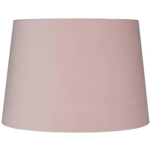 Perfect Pink Velvet Hardback Drum Lamp Shade 11x13x9 (Spider) - #39D79  EC46