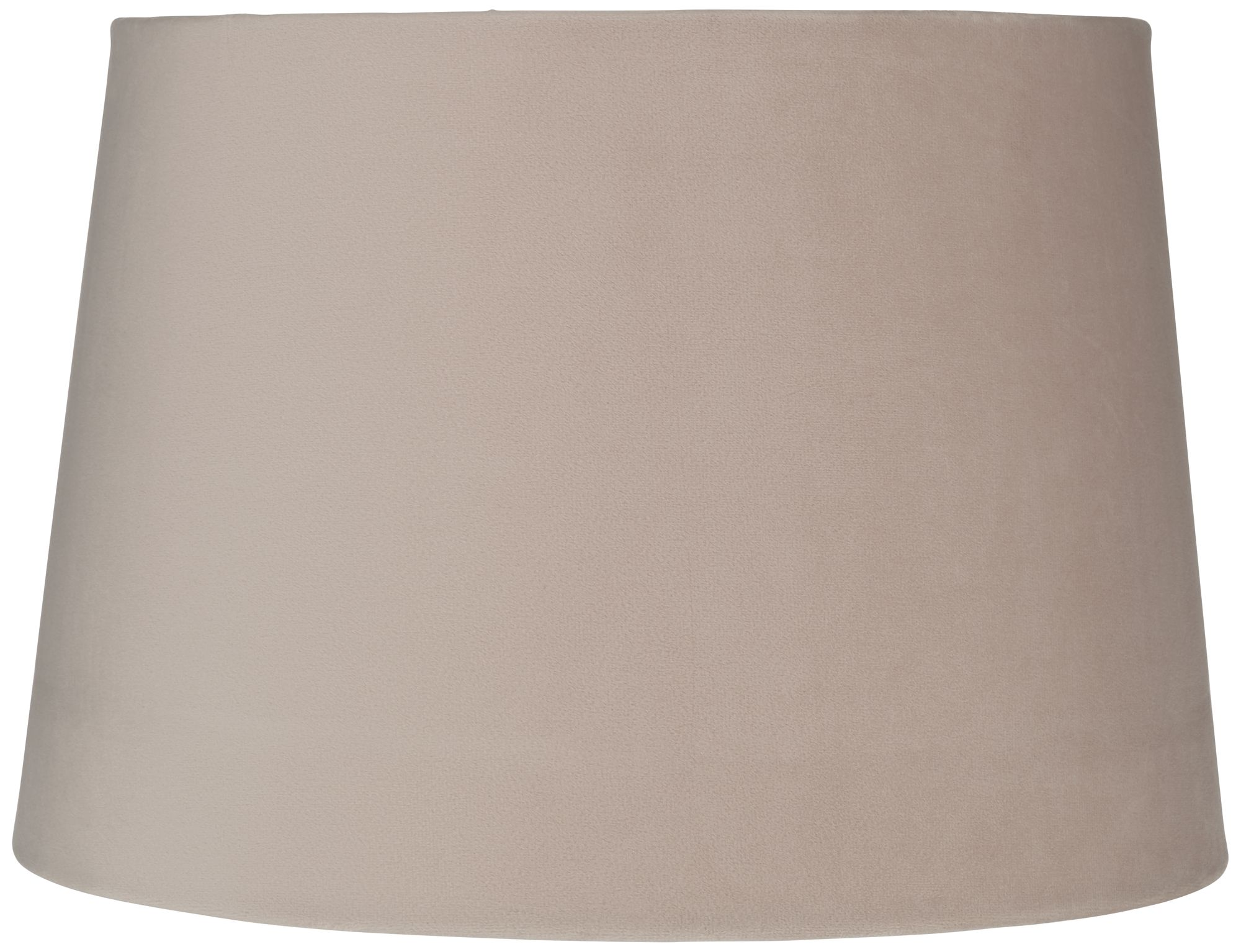 Beige Velvet Hardback Drum Lamp Shade 11x13x9 (Spider)