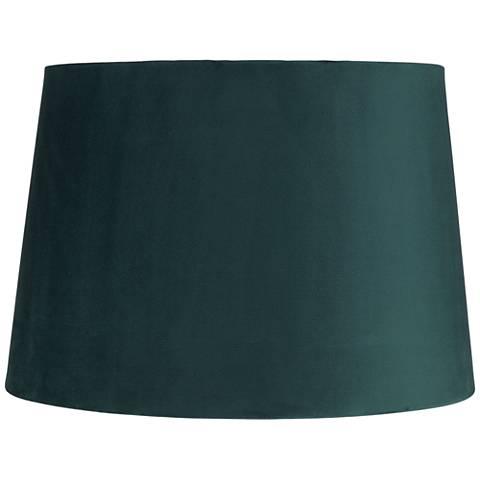 Teal Blue Velvet Hardback Drum Lamp Shade 11x13x9 (Spider)