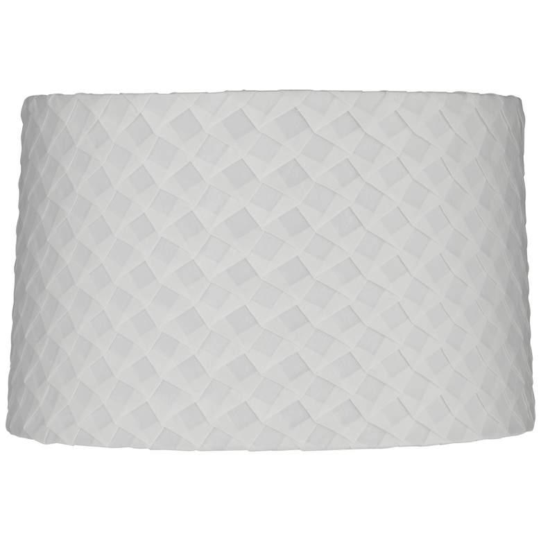 White Folded Pleat Fabric Drum Lamp Shade 13x14x9 (Spider)