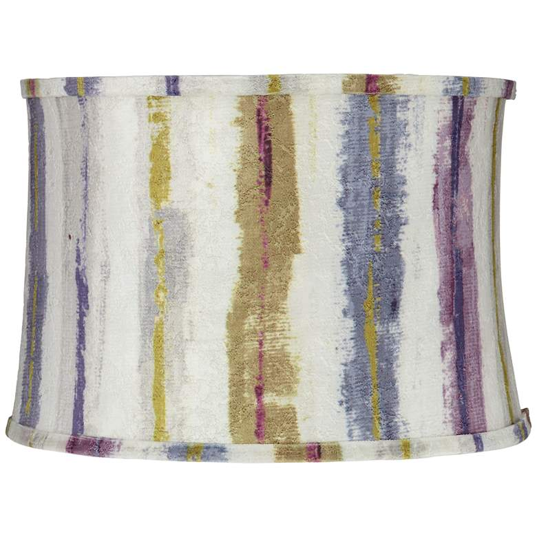Purple Crackle Stripes Drum Lamp Shade 15x16x11 (Spider)