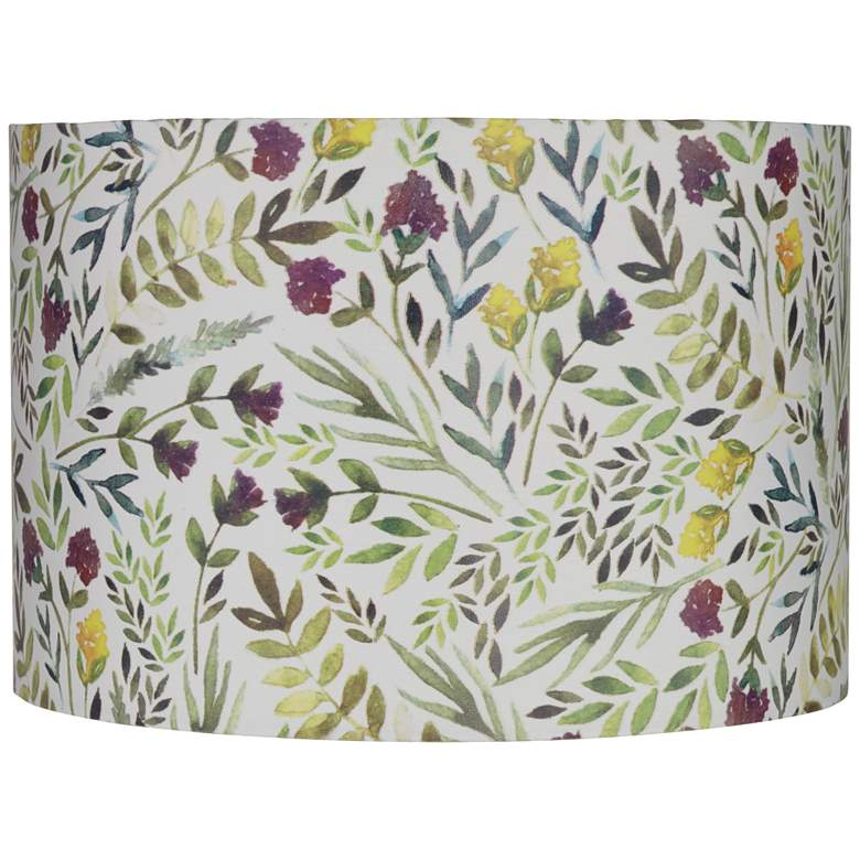 Yellow And Purple Flower Drum Lamp Shade 12x12x8 Spider