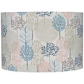 Multi Color Pastel Tree Drum Lamp Shade 12x12x8 Spider
