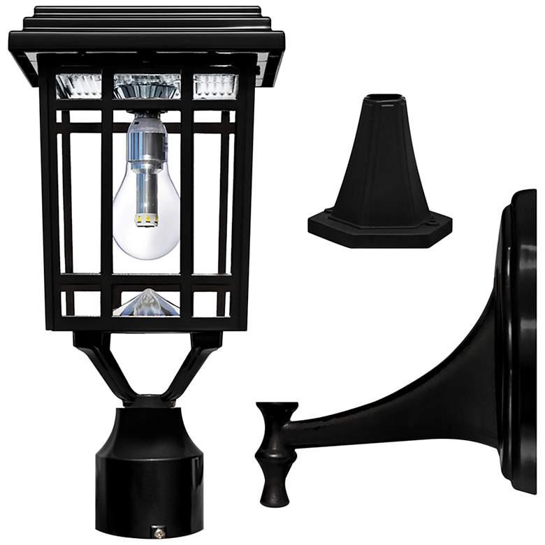 """Prairie 14"""" High Black Solar LED Outdoor Post Light"""