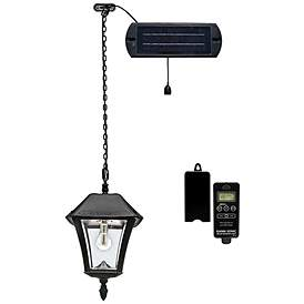 Baytown Ii 18 High Black Solar Led Outdoor Hanging Light