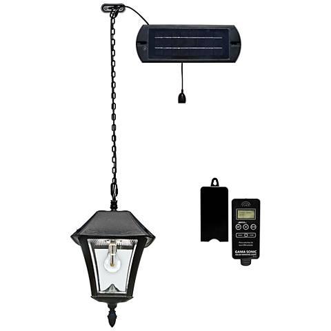 "Baytown II 18"" High Black Solar LED Outdoor Hanging Light"