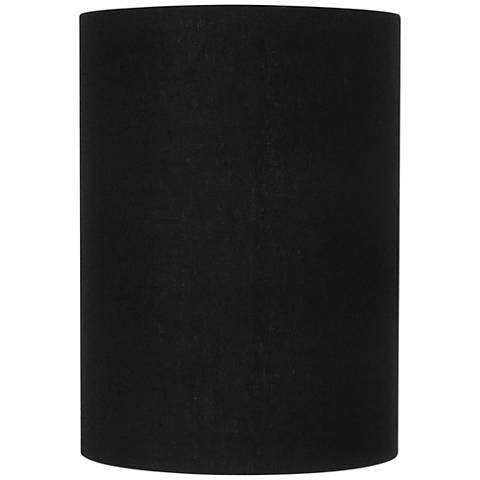 Black Linen Small Cylinder Lamp Shade 8x8x11 (Spider)