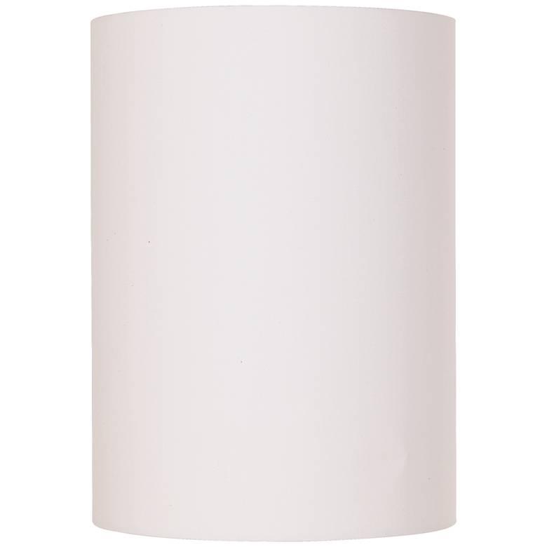 White Cotton Small Drum Cylinder Shade 8x8x11 (Spider)