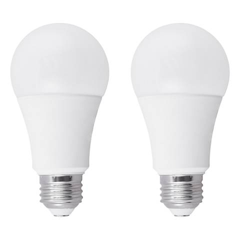 75W Equivalent Frosted 12W LED Dimmable Standard A19 2-Pack