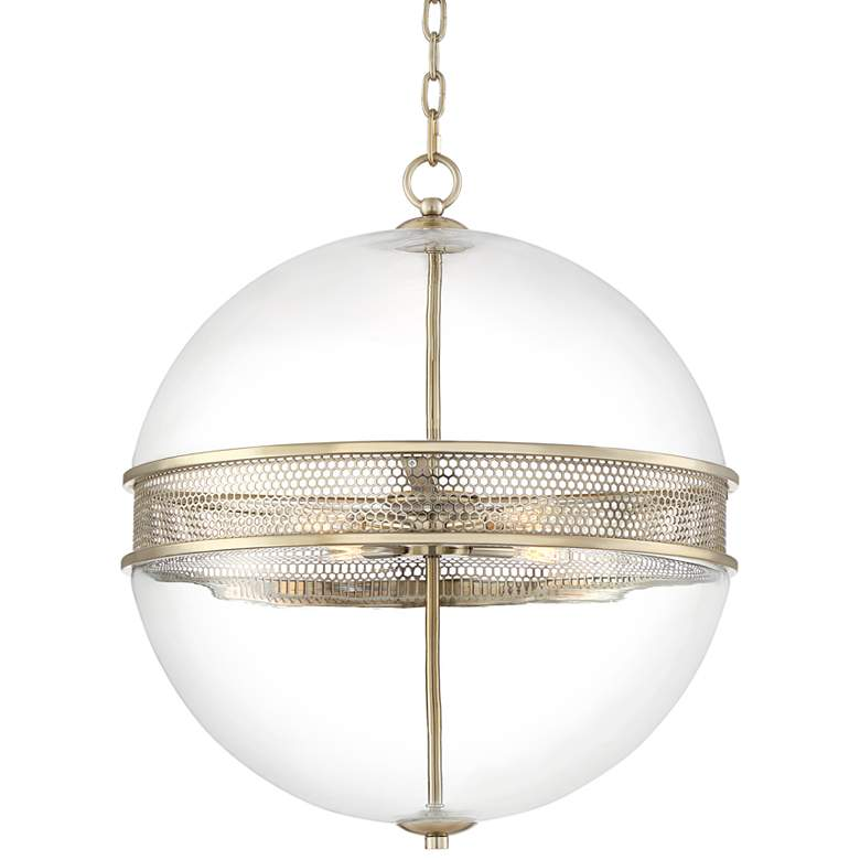 "Possini Euro Carson 20 1/4"" Wide Warm Brass Pendant Light"