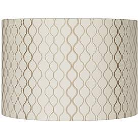 Embroidered Hourgl Lamp Shade 16x16x11 Spider