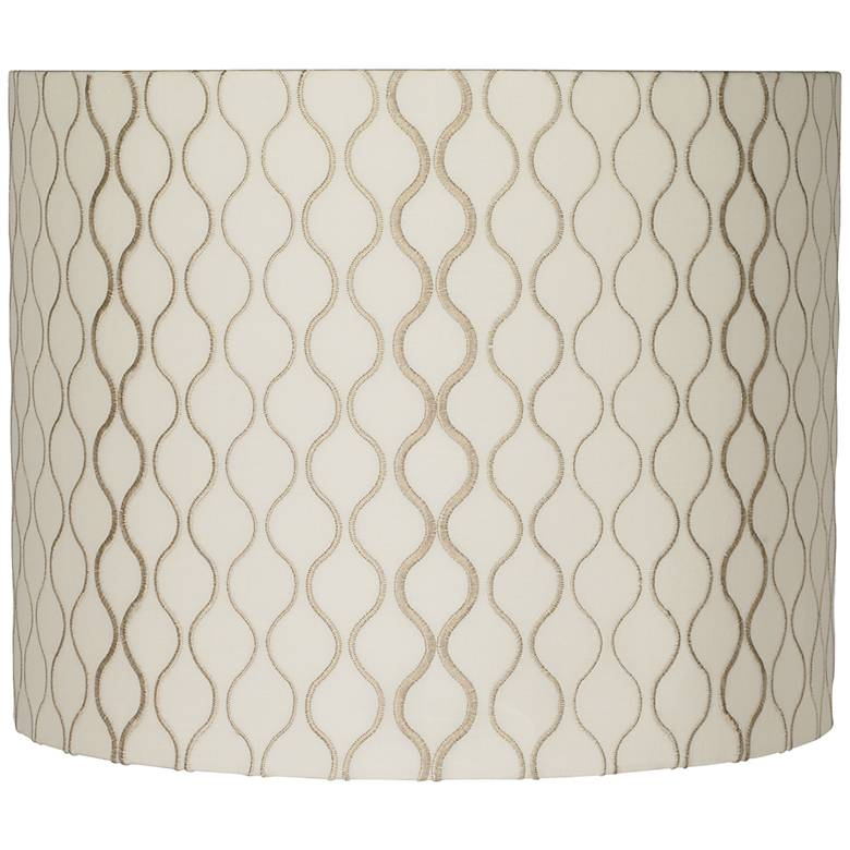 Embroidered Hourglass Lamp Shade 14x14x11 (Spider)