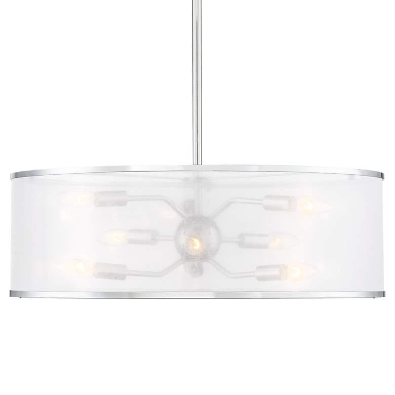 "Possini Euro Gerald 24"" Wide Chrome 9-Light Pendant"