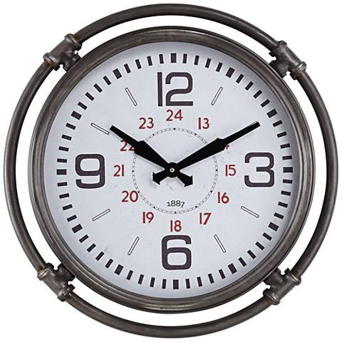 "Marco 18 3/4"" High Metal Wall Clock"