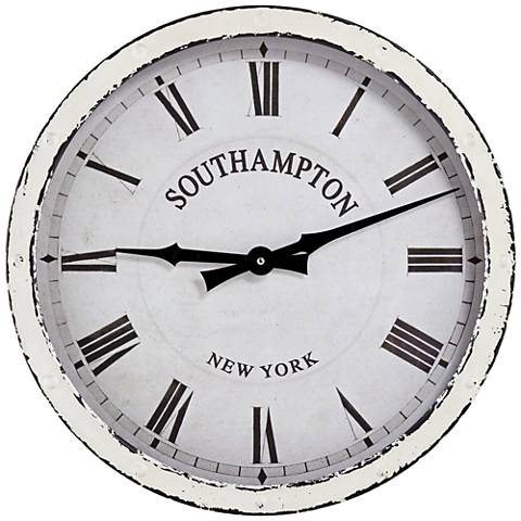"Southampton 16"" Wide Vintage Wall Clock"
