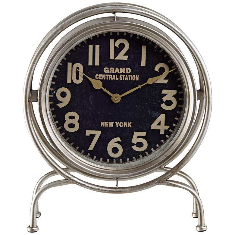 """Grand Central 16 7/8"""" High Table Clock"""