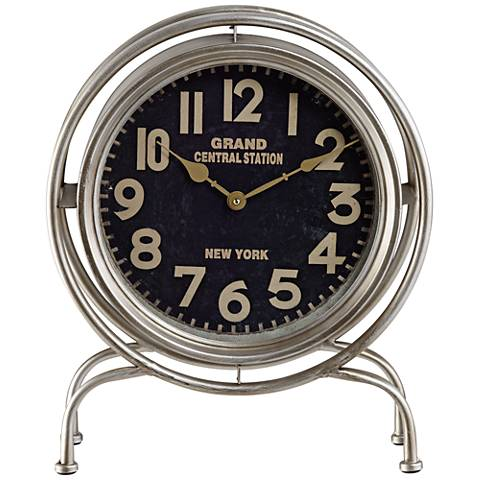 "Grand Central 16 7/8"" High Table Clock"