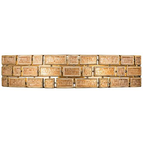 "Varaluz Harlowe 5 1/2"" High Havana Gold Wall Sconce"