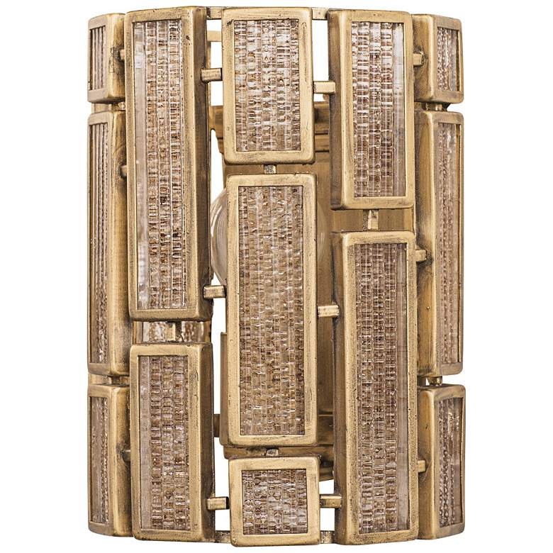 "Varaluz Harlowe 10"" High Havana Gold Wall Sconce"
