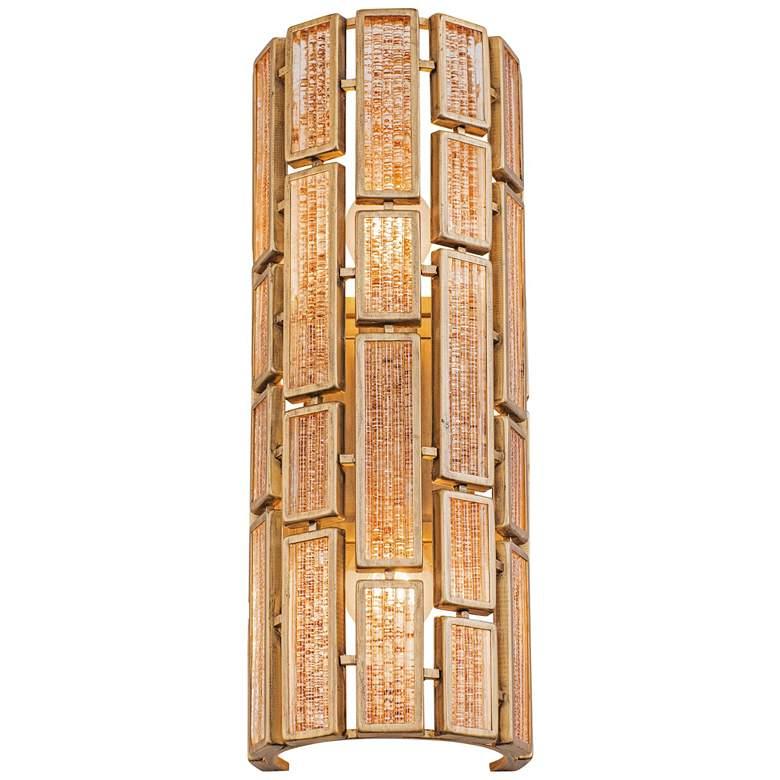 "Varaluz Harlowe 18 1/4"" High Havana Gold Wall Sconce"