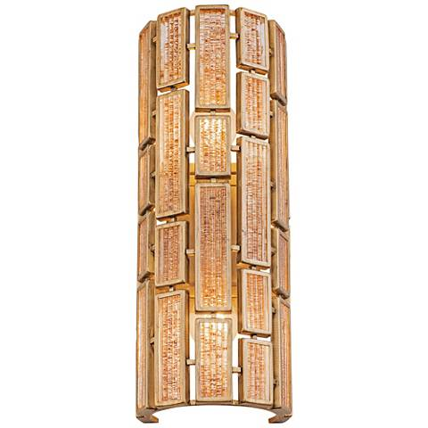 "Varaluz Harlowe 18 1/4"" High Havana Gold Wall Sconce"