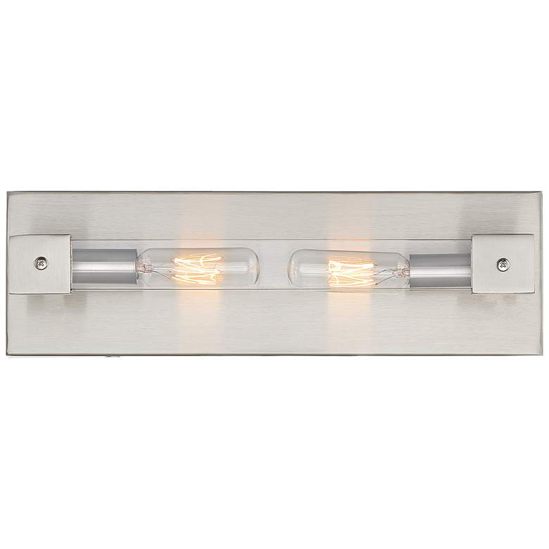 "Varaluz Halcyon 4"" High Satin Nickel 2-Light Wall"