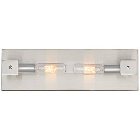 "Varaluz Halcyon 4"" High Satin Nickel 2-Light Wall Sconce"