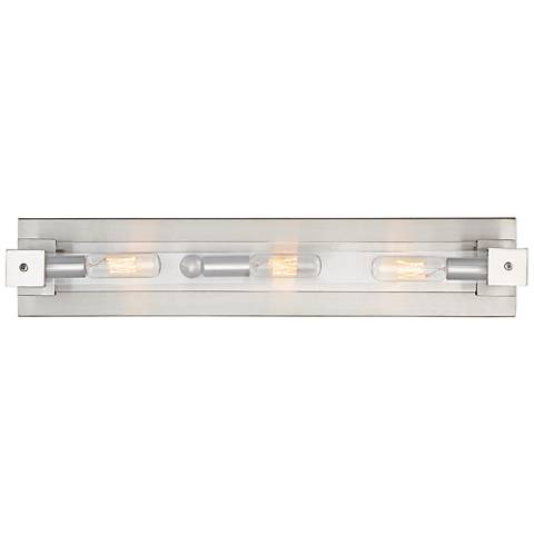 "Varaluz Halcyon 20"" Wide Satin Nickel 3-Light Bath Light"