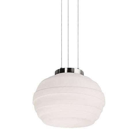"""dweLED Elliptic 15"""" Wide Brushed Nickel LED Pendant Light"""