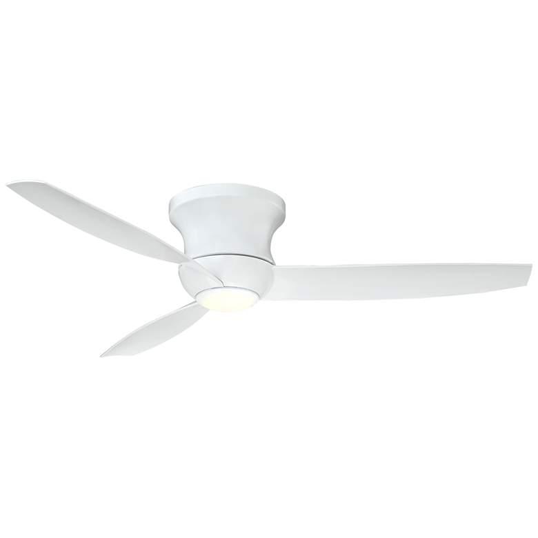 "52"" Reflection™ White Hugger Dimmable LED Ceiling Fan"