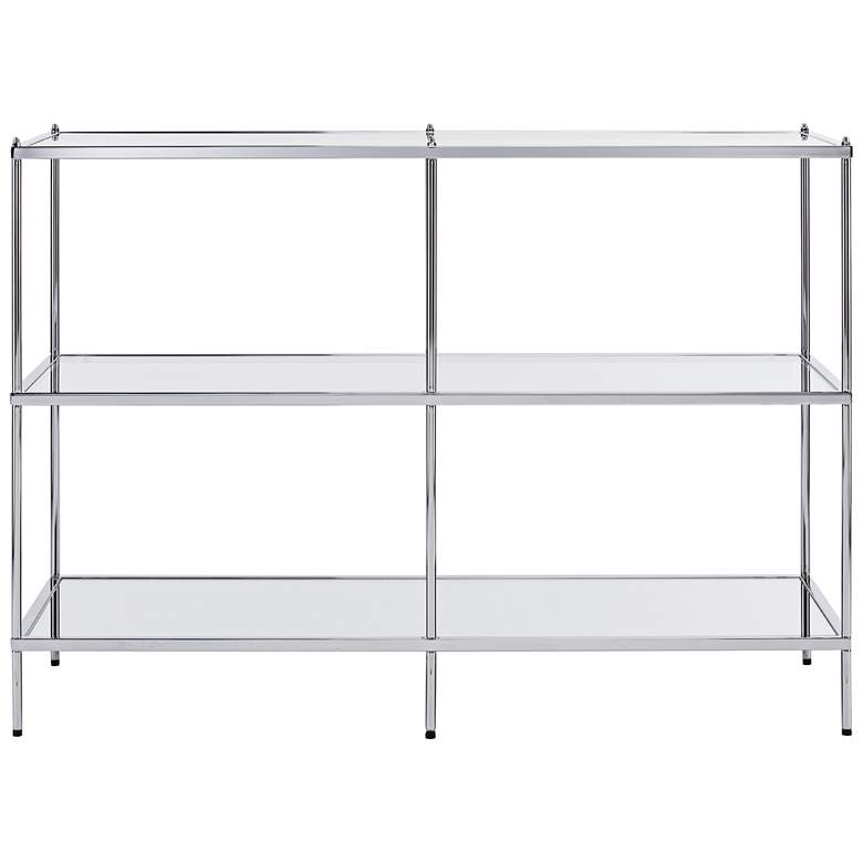 """Knox 42"""" Wide Metallic Chrome Console Table"""
