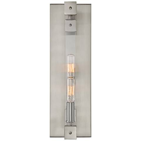 "Varaluz Halcyon 16"" High Satin Nickel 2-Light Wall Sconce"