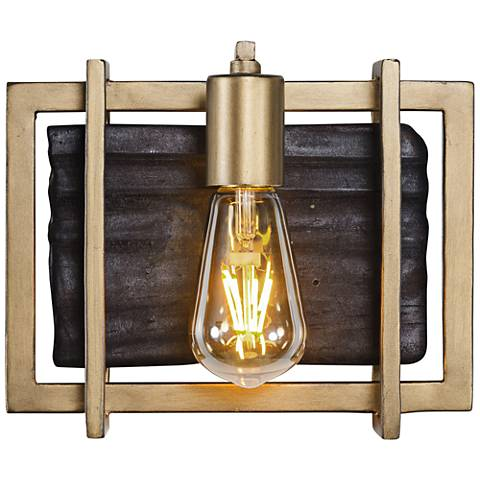 "Varaluz Madeira 7 3/4"" High Rustic Gold LED Wall Sconce"