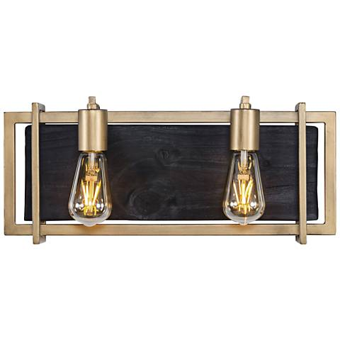 "Varaluz Madeira 7 3/4"" High Rustic Gold 2-LED Wall Sconce"