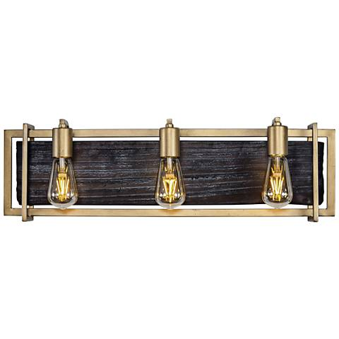 "Varaluz Madeira 25 3/4"" Wide Rustic Gold 3-LED Bath Light"