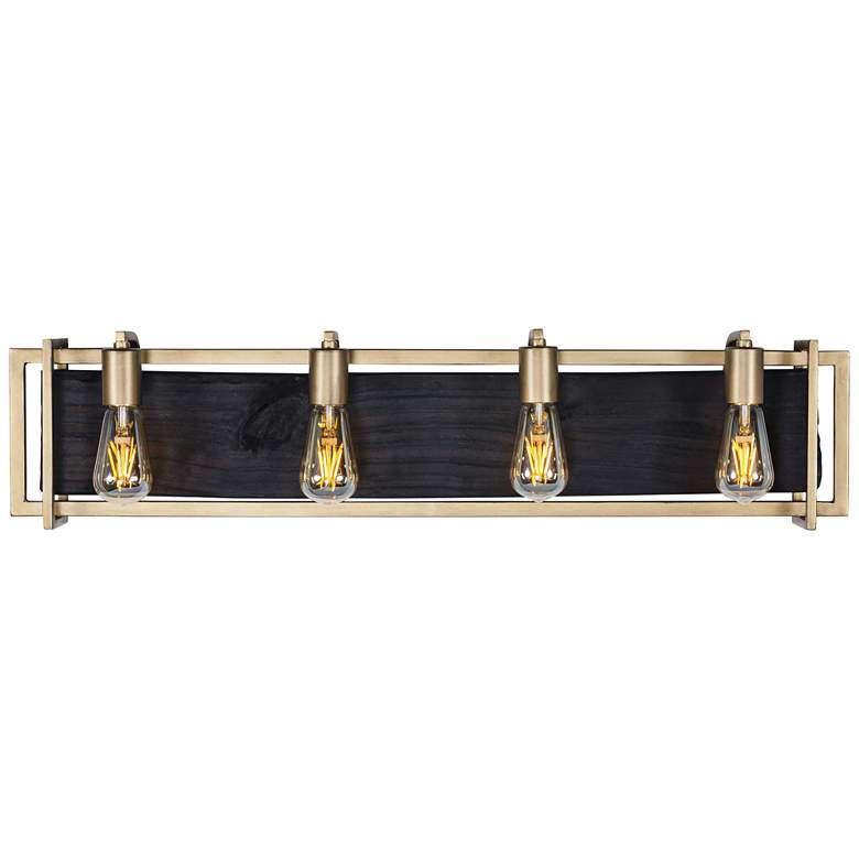 "Varaluz Madeira 33 3/4"" Wide Rustic Gold 4-Light Bath Light"