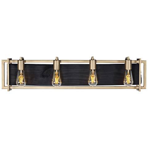 "Varaluz Madeira 33 3/4"" Wide Rustic Gold 4-LED Bath Light"