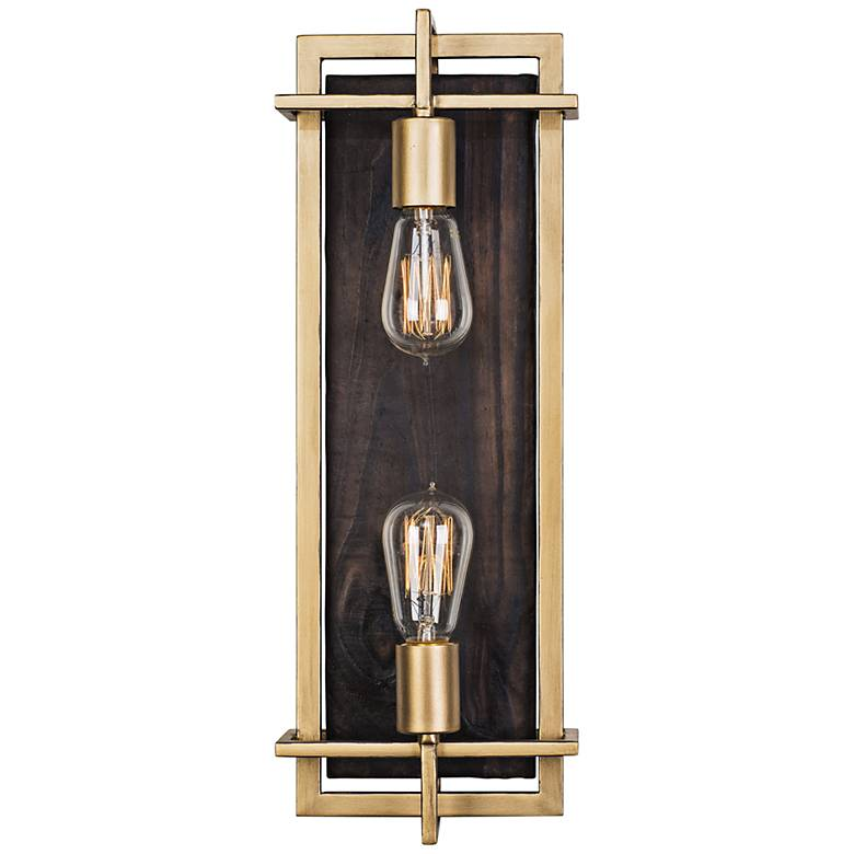 """Varaluz Madeira 20"""" High Rustic Gold 2-Light LED Wall Sconce"""