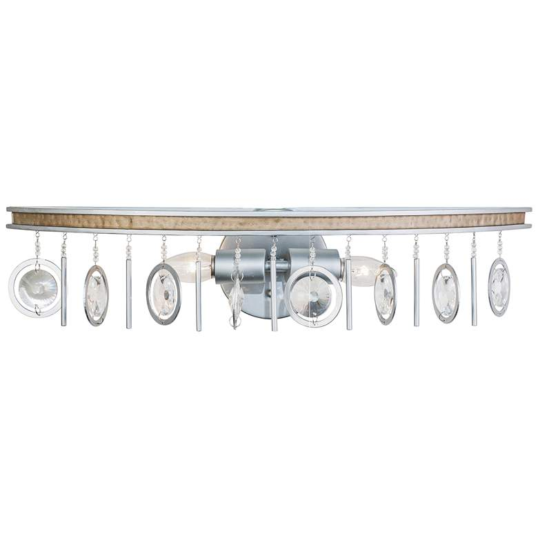 """Varaluz Charmed 5 1/2"""" High Silver 2-Light Wall Sconce"""