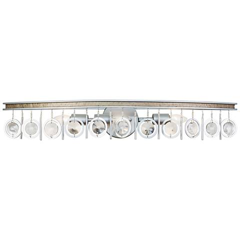 "Varaluz Charmed 33"" Wide Silver 3-Light Bath Light"