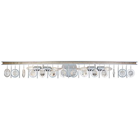 "Varaluz Charmed 44"" Wide Silver 4-Light Bath Light"